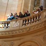Higher Ground Saint Paul staff support their clients speaking in the Capitol Rotunda