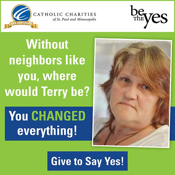 Give to say yes!
